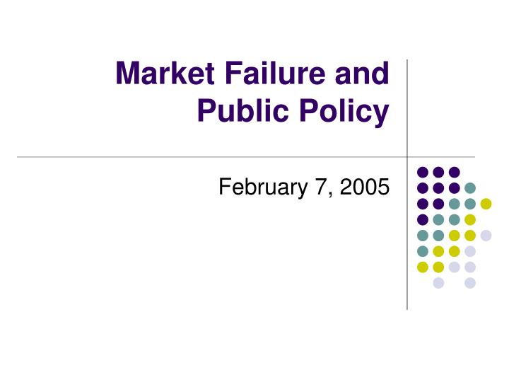 market failure and public policy n.