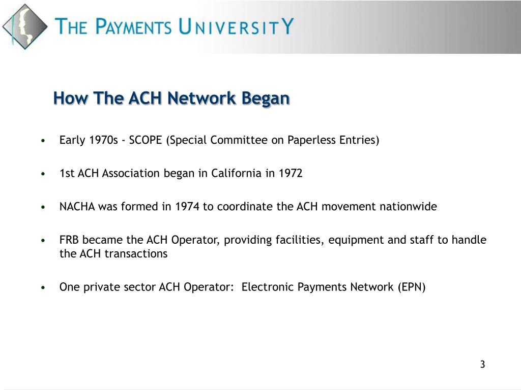 How The ACH Network Began