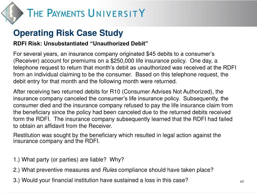 "RDFI Risk: Unsubstantiated ""Unauthorized Debit"""