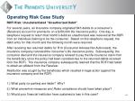 operating risk case study