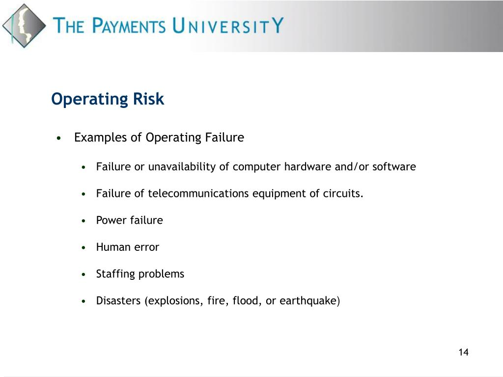 Operating Risk