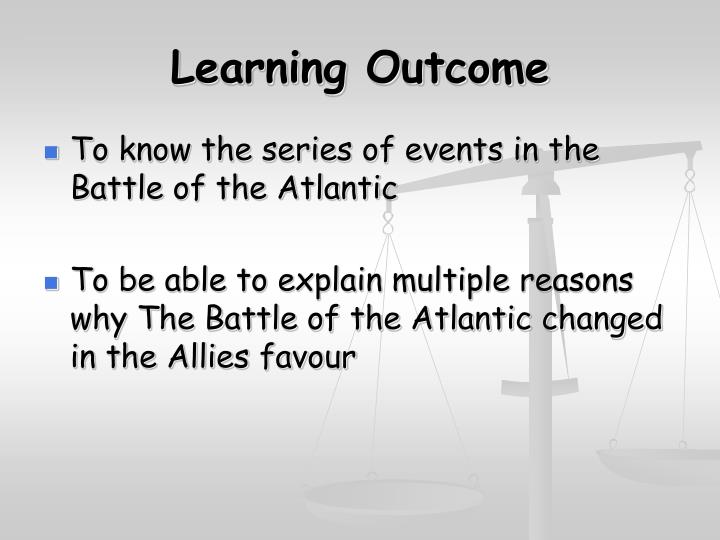 learning outcome n.