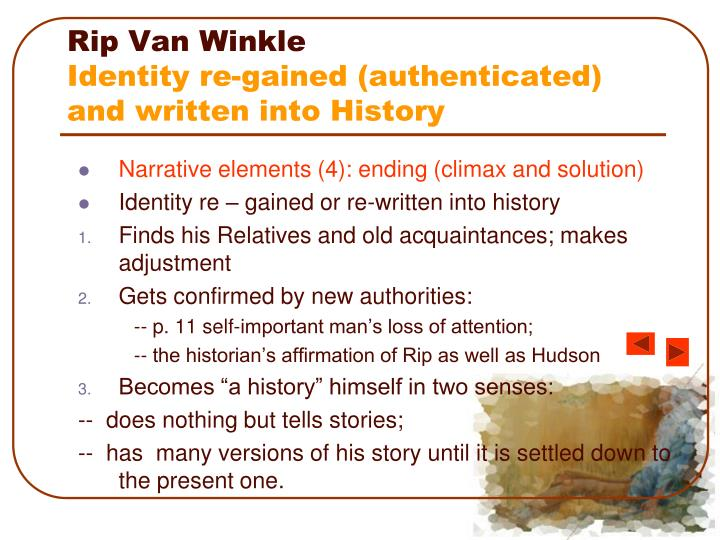 critical essay on rip van winkle The story of 'rip van winkle' is one of enchantments and escape in this lesson, we look at how washington irving uses his words and romantic.