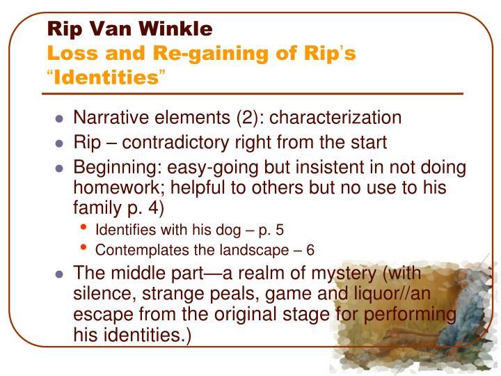 rip van winkle as interesting character essay