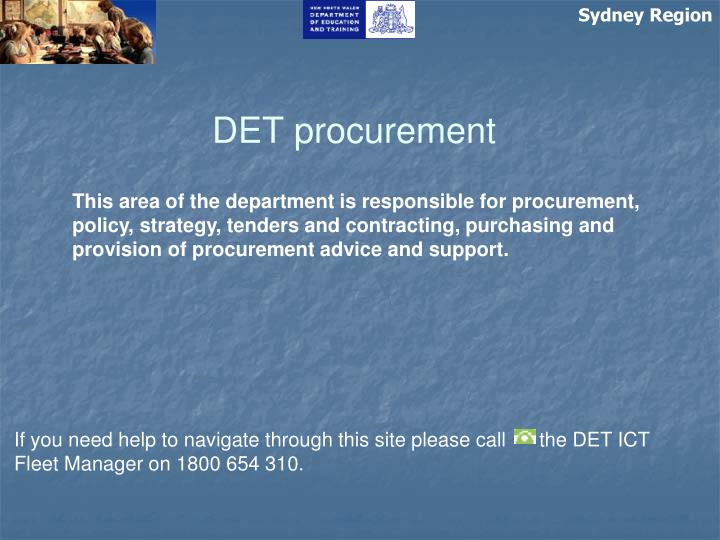 det procurement n.