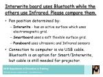 interwrite board uses bluetooth while the others use infrared please compare them