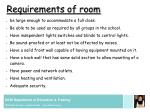 requirements of room