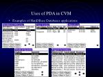 uses of pda in cvm6