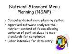 nutrient standard menu planning nsmp