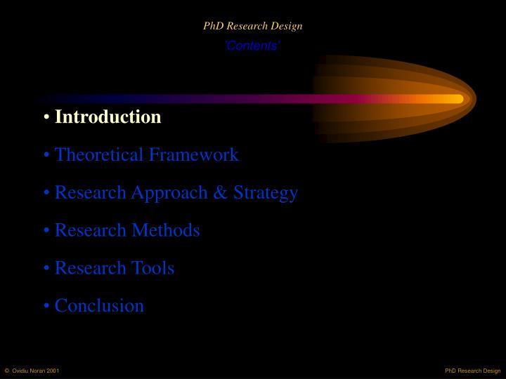 PhD Research Design