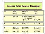 relative sales values example1