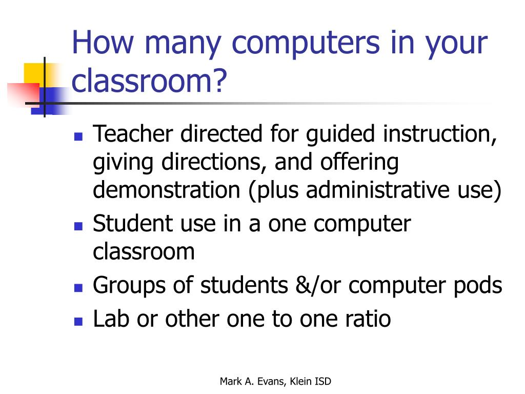 How many computers in your classroom?
