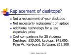 replacement of desktops