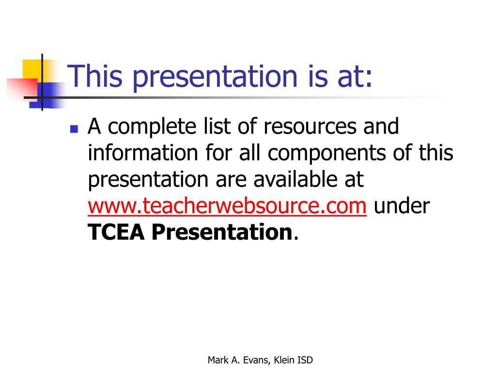 This presentation is at: