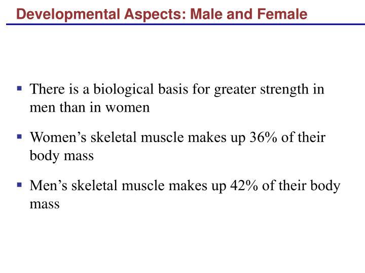 Developmental Aspects: Male and Female