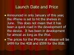 launch date and price