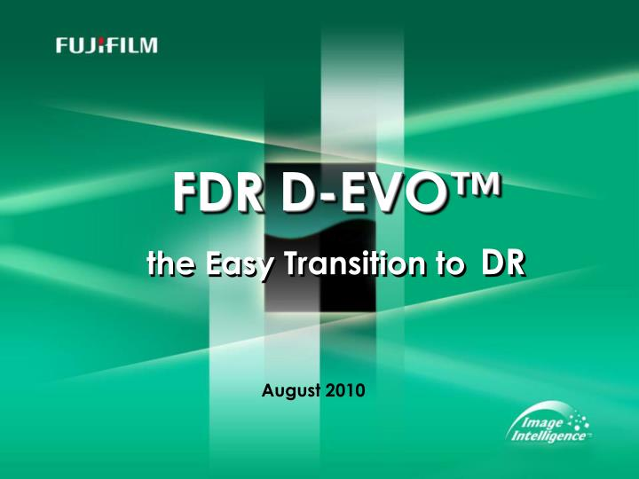 fdr d evo the easy transition to dr n.