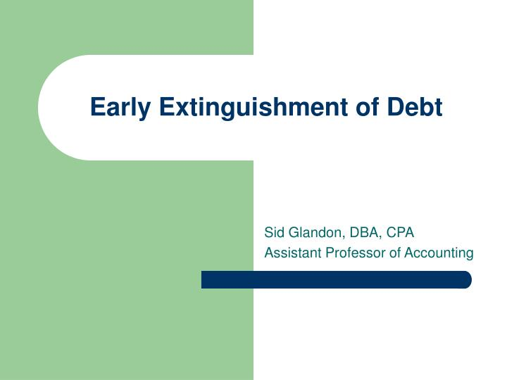 early extinguishment of debt n.