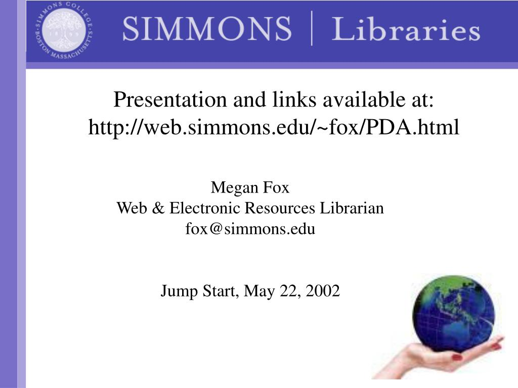 Presentation and links available at: