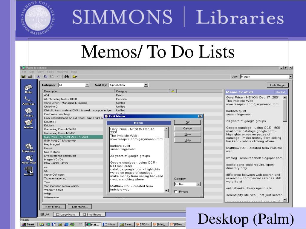 Memos/ To Do Lists
