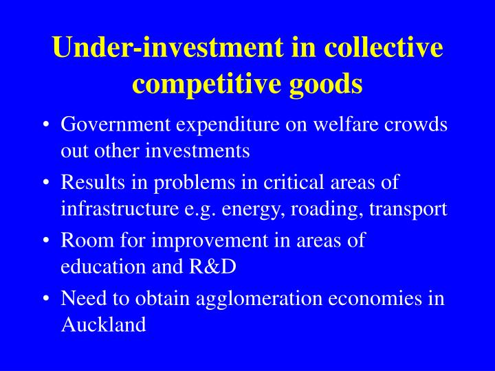 Under-investment in collective competitive goods