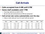 call arrivals