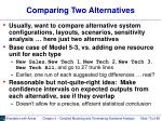 comparing two alternatives