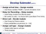 develop submodel cont d