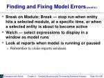 finding and fixing model errors cont d48