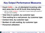 key output performance measures