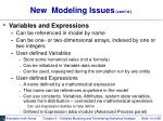 new modeling issues cont d14