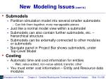 new modeling issues cont d15