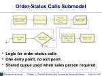 order status calls submodel