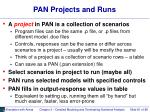 pan projects and runs