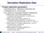 simulation replication data