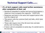 technical support calls cont d