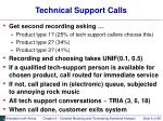 technical support calls