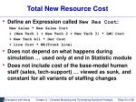 total new resource cost