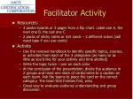 facilitator activity