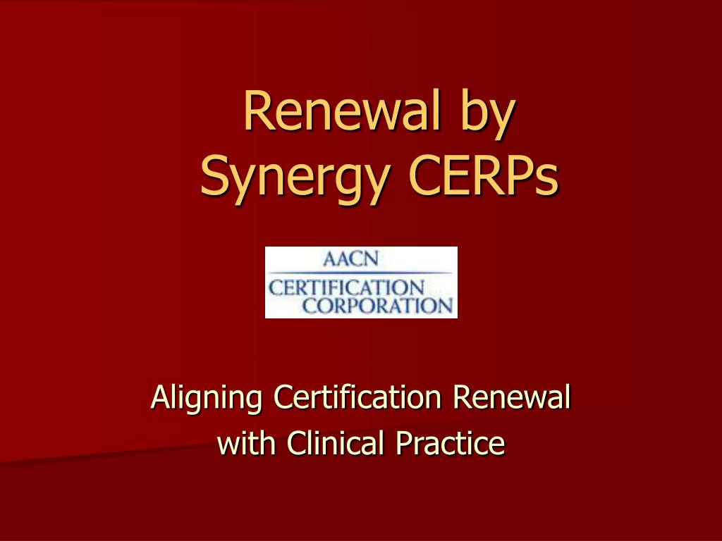 renewal by synergy cerps l.