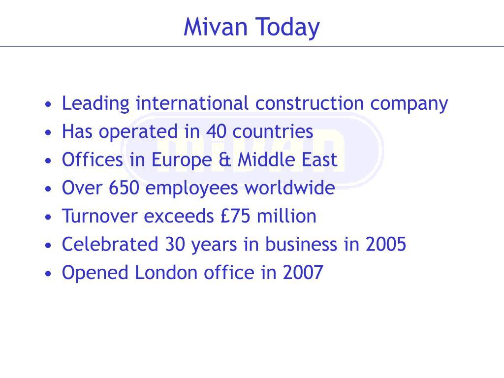 Leading international construction company