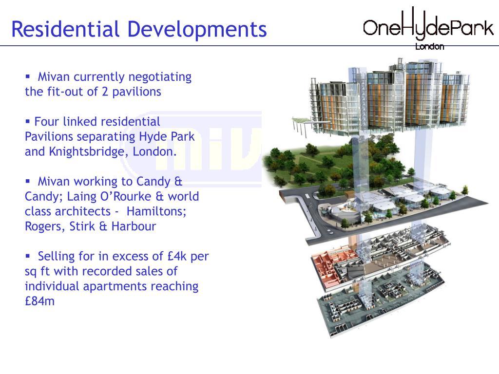 Residential Developments
