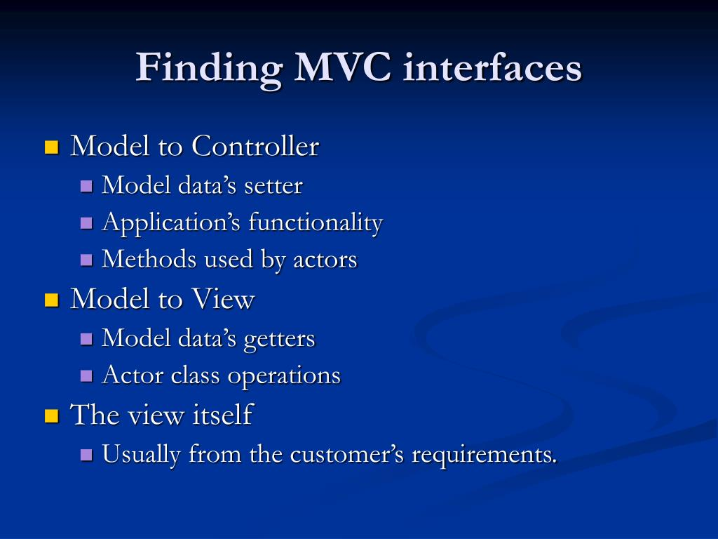 Finding MVC interfaces