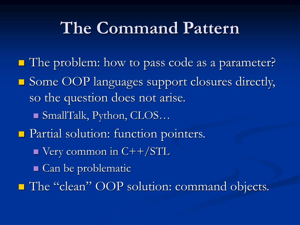 The Command Pattern