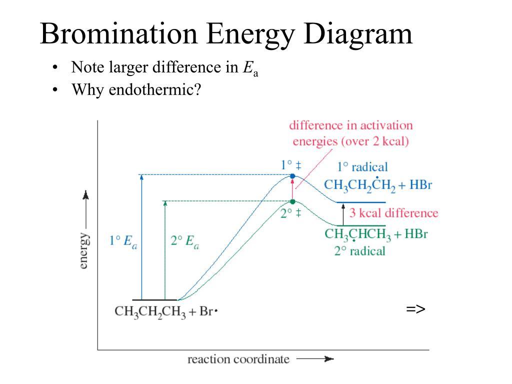 Bromination Energy Diagram