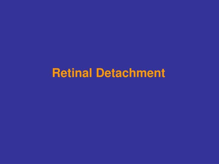 retinal detachment n.