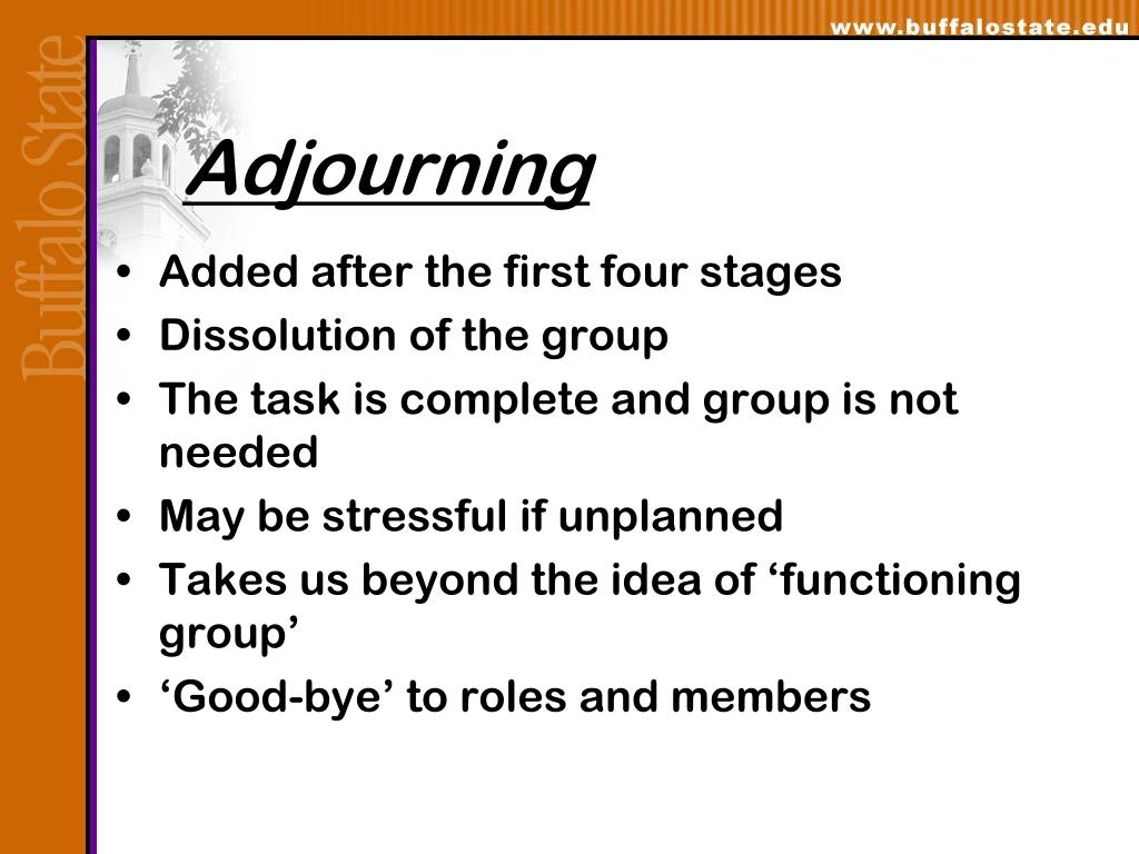 Adjourning