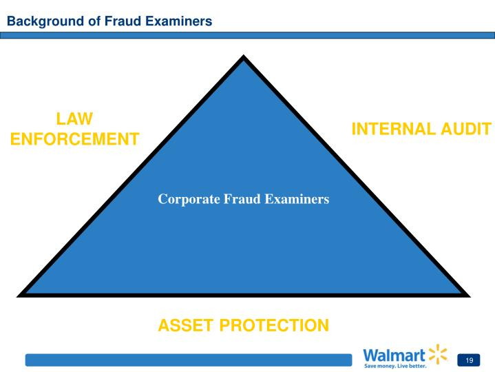 Background of Fraud Examiners