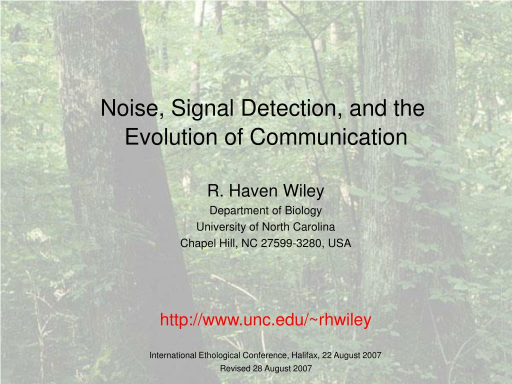 Noise, Signal Detection, and the