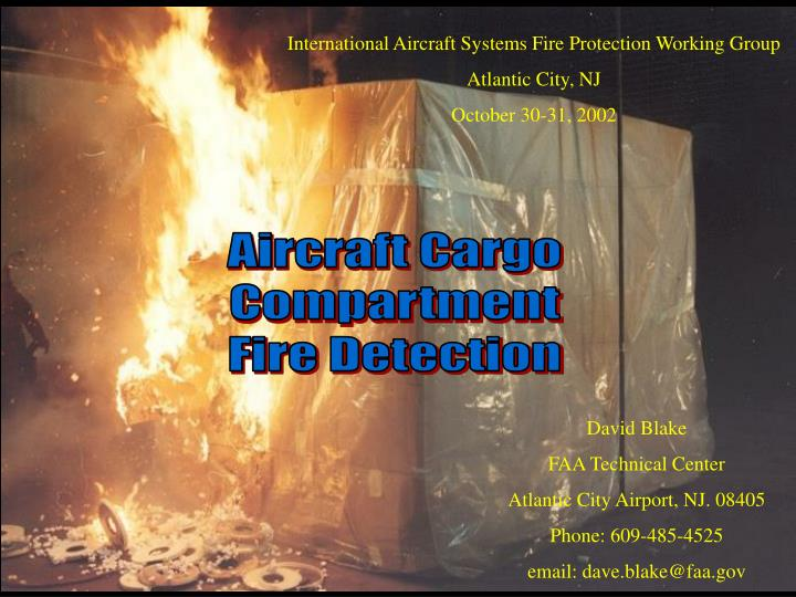 International Aircraft Systems Fire Protection Working Group
